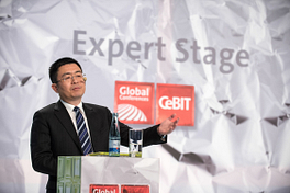 Auftritt bei den CeBIT Global Conferences: Xu Ming, Vice President und Deputy General Manager of Enterprise Business Division, ZTE Corporation.